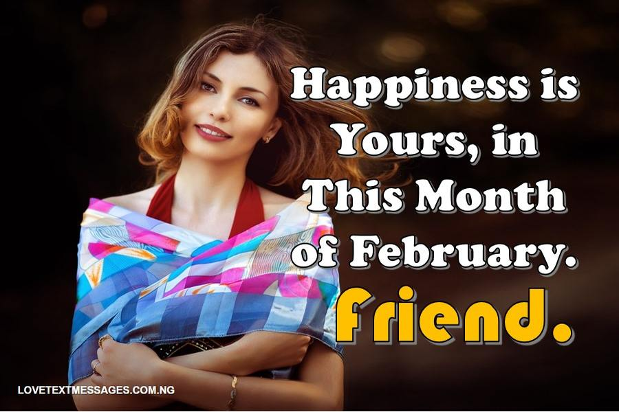 Happy New month of February for Friend