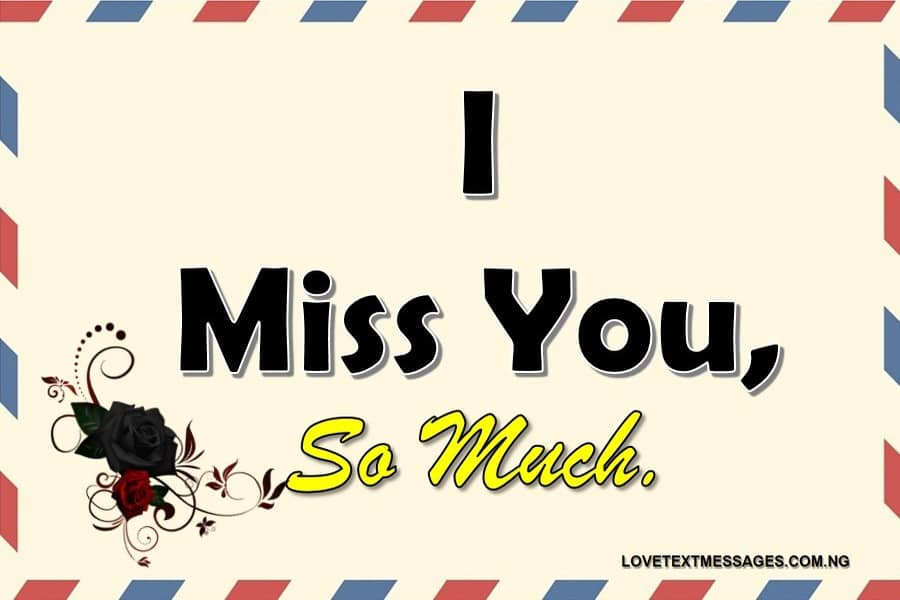 Missing You Text Message
