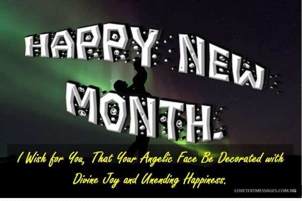 Happy New Month Love Message