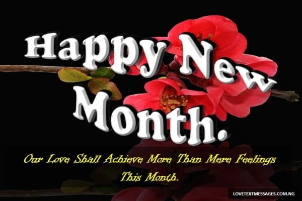 Happy New Month Message to My love