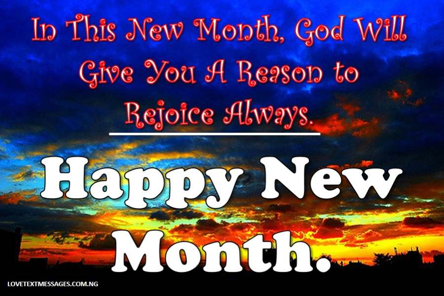 Happy new month sms to a girlfriend