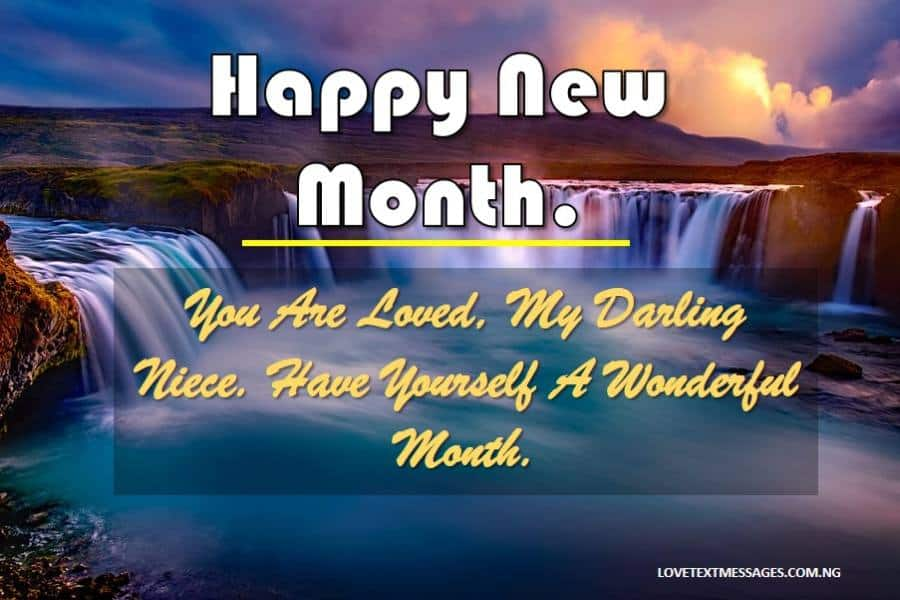 New Month Inspirational Message for Niece