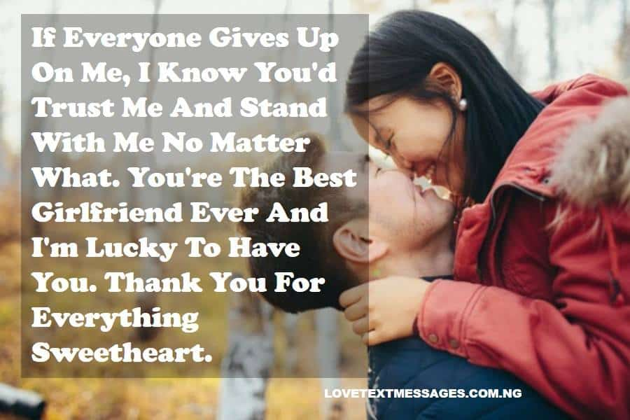 Thank You Quotes for Girlfriend