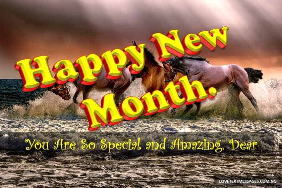 Happy New Month Text Messages for Boyfriend