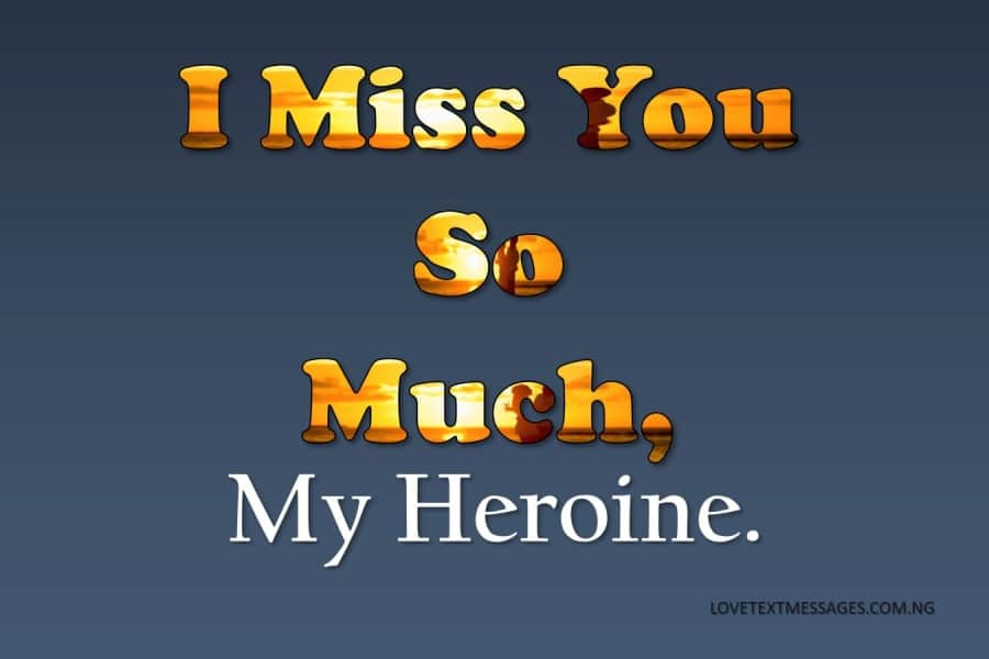 Missing You Message to Your Girlfriend