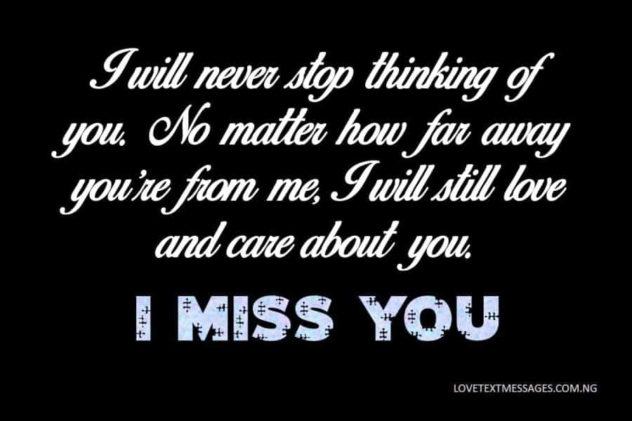 Missing You Text for Her